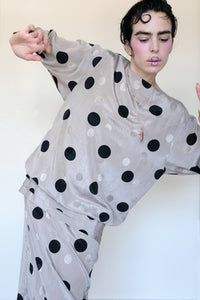 Polka Dot Evening Dress