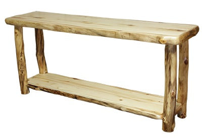 Groovy Aspen Log Sofa Table 72W In Natural Panel Natural Log Alphanode Cool Chair Designs And Ideas Alphanodeonline