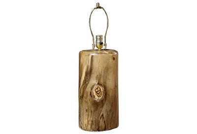 ASPEN LOG Barrel Lamp (7″D)