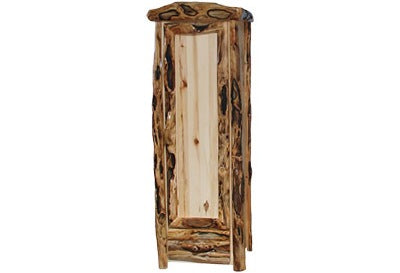 ASPEN LOG 1 Drawer Armoire in Log Front (27″W)  in Natural Panel & Gnarly Log.