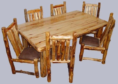 ASPEN LOG DINING TABLES - Options