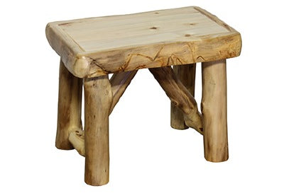 ASPEN LOG Bench (24″W) in Natural Panel & Natural Log