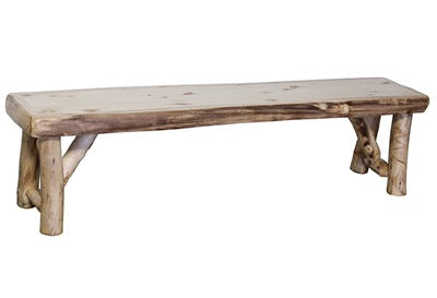 ASPEN LOG Bench (60″W) in Natural Panel & Natural