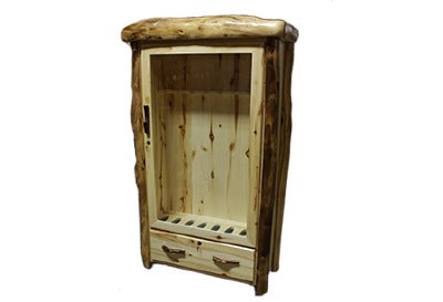 ASPEN LOG 1 Drawer Gun Cabinet in Flat