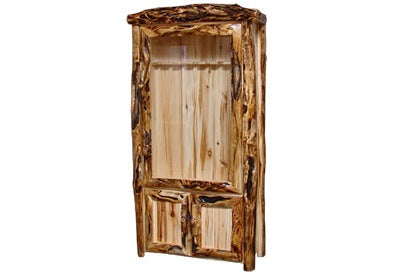 ASPEN LOG Lower Door Gun Cabinet in Log Front (39″W)
