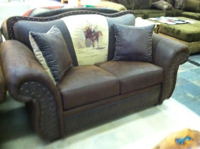 Cowboy loveseat