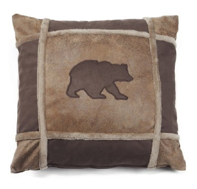 Bear grid pillow