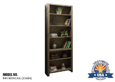 "Joshua Creek Collection; 84"" bookcase"