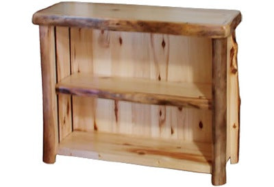 ASPEN LOG Open TV Stand (39″W)  in Natural Panel & Natural Log.