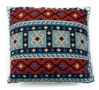 SW Embroidered Path pillow.