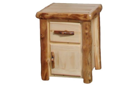ASPEN LOG Night Stand in Flat Front (21″W)