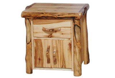 ASPEN LOG Night Stand in Flat Front (24″W)