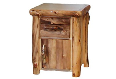 ASPEN LOG Night Stand in Log Front (21″W)