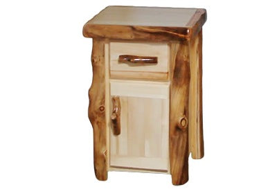 ASPEN LOG Tall Night Stand in Flat Front (21″W)
