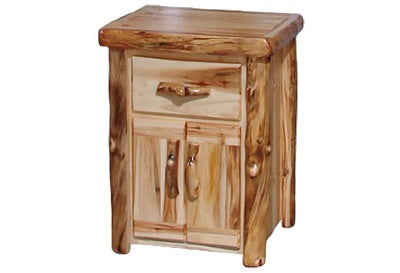 ASPEN LOG Tall Night Stand in Flat Front (24″W)