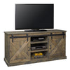 "Farmhouse Collection 66"" TV Console Barnwood Finish"