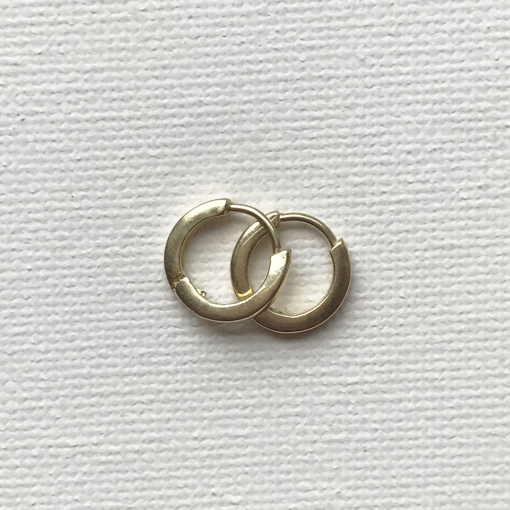 Mini Moon Huggies - 18K Gold Plated