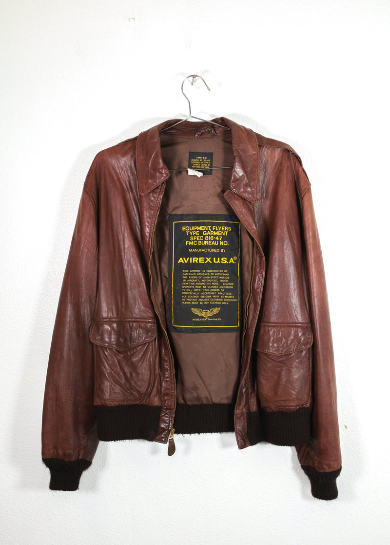 Leather US Air Force Flyer Jacket
