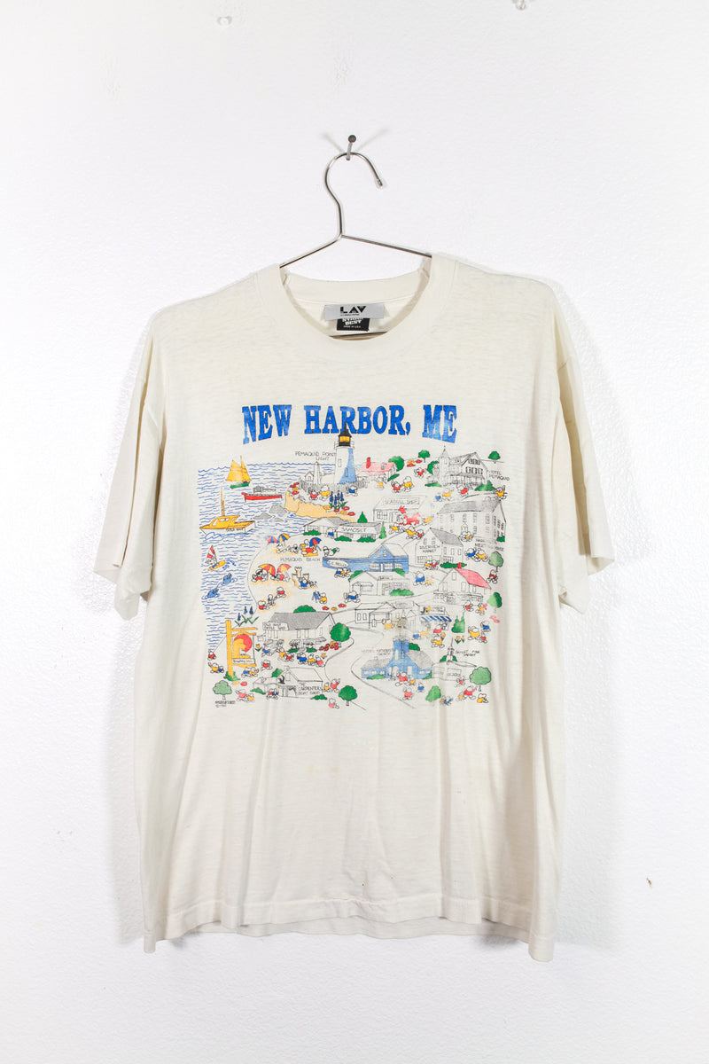 Vintage New Harbor Maine Tee