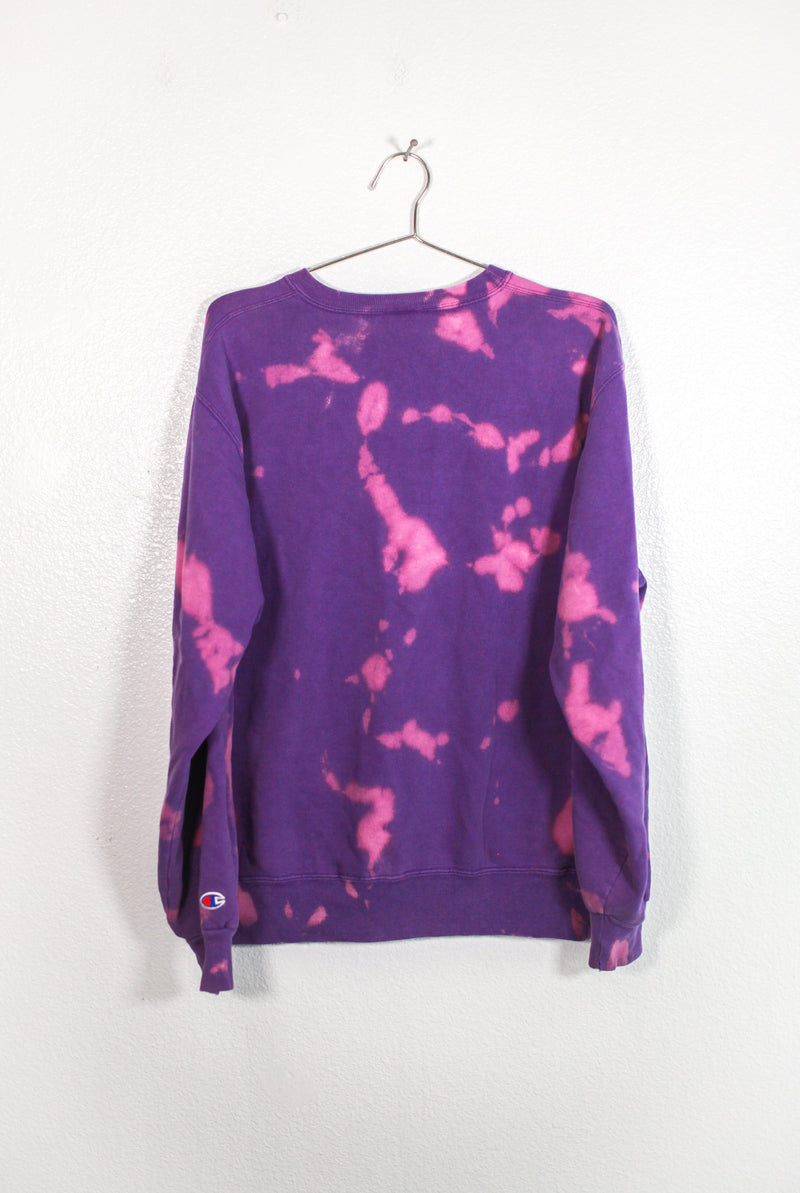 Purple Acid Washed Chamption Sweatshirt