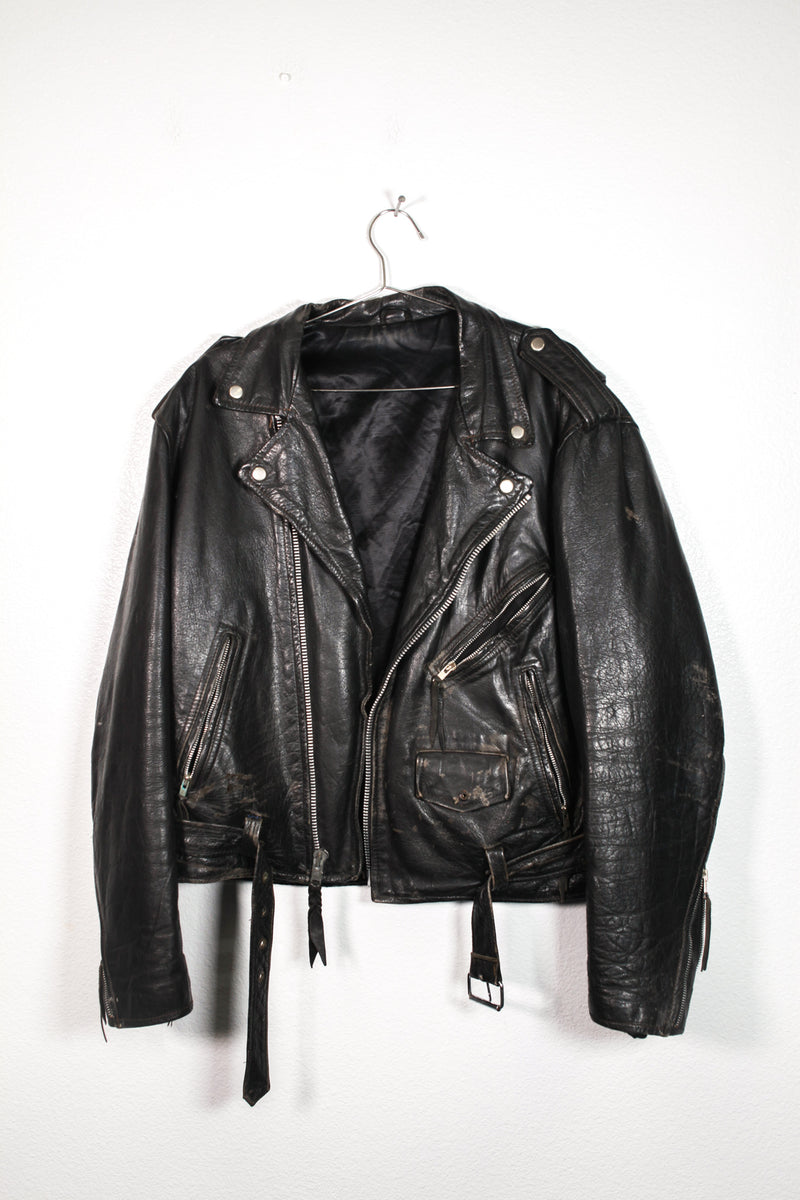 Vintage Rugged Leather Jacket