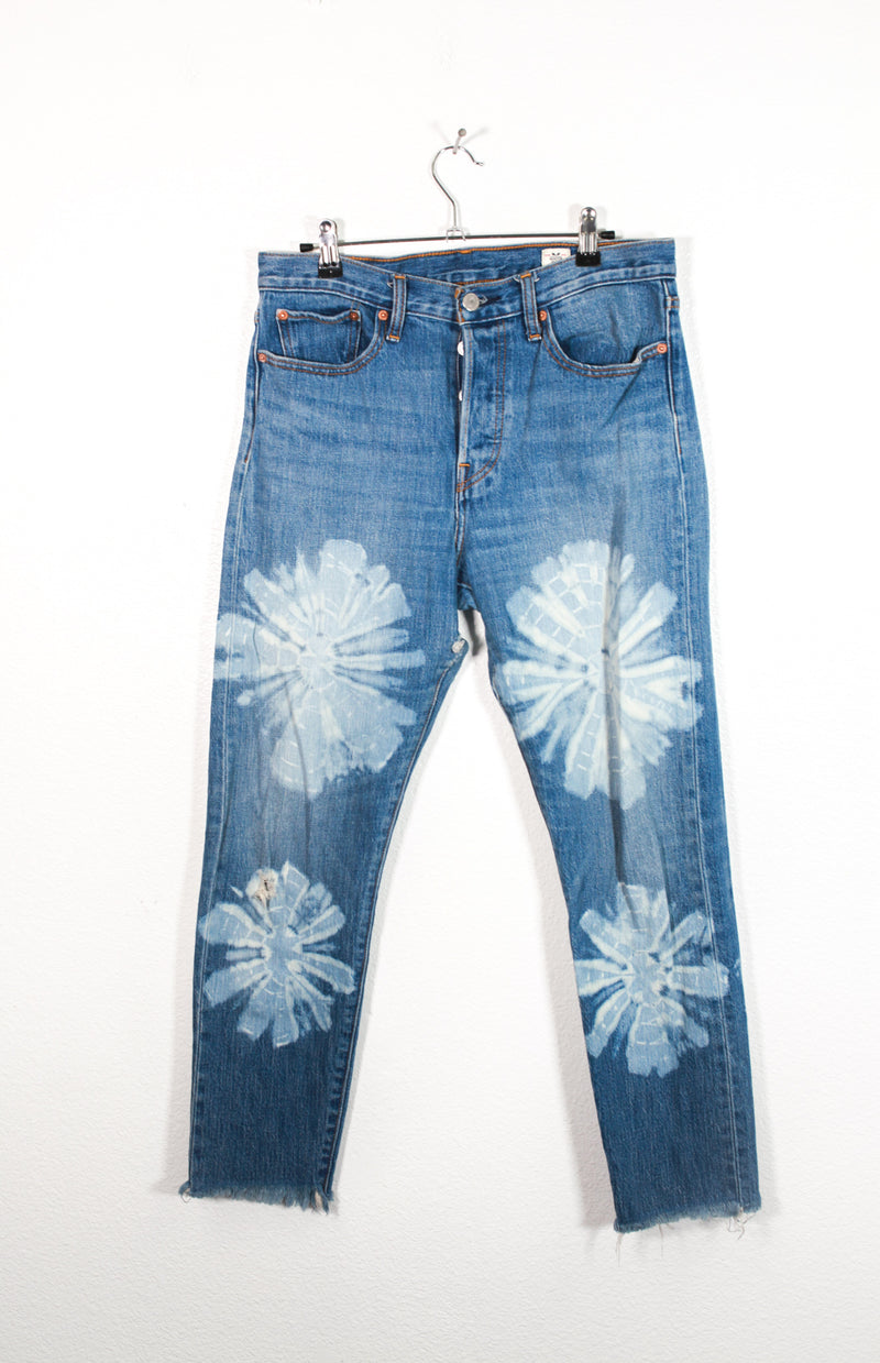 Vintage Levi Strauss Hand Painted Denim Jeans