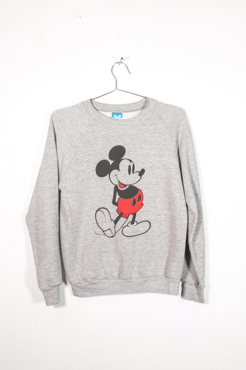 Vintage Gray Mickey Mouse Sweatshirt