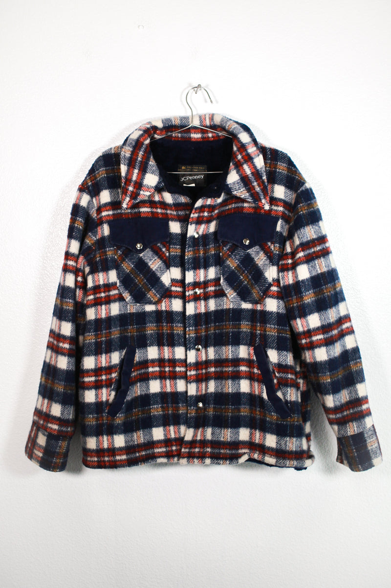 Vintage Fleece Plaid Jacket