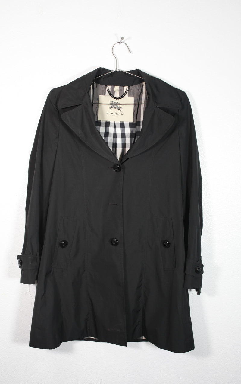 Black Burbery Rain Jacket