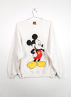 Vintage Mickey Mouse White Sweatshirt