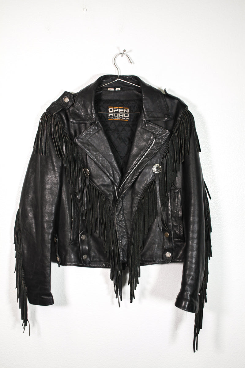 Open Road Leather Fringe Jacket