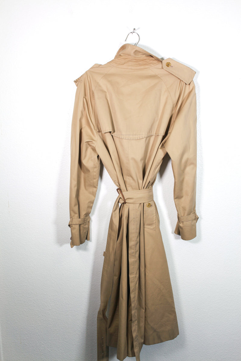 Vintage Burberry's Tan Peacoat