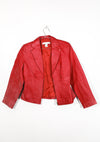 Vintage Red Leather Jacket