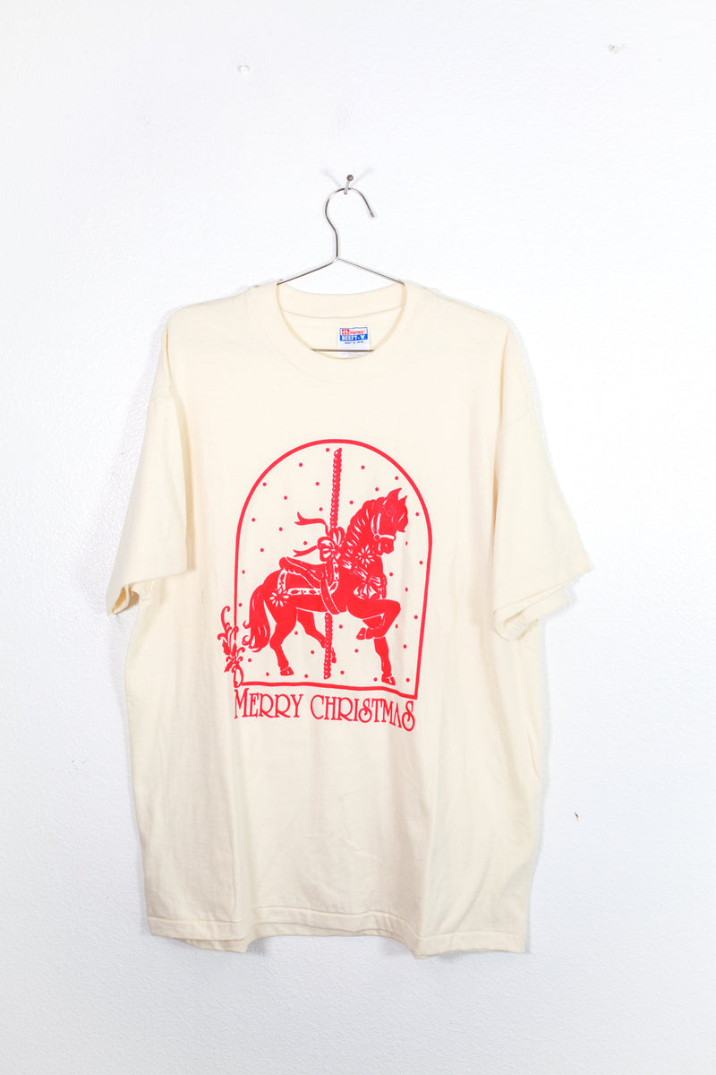 Vintage Merry Christmas Pony Tee