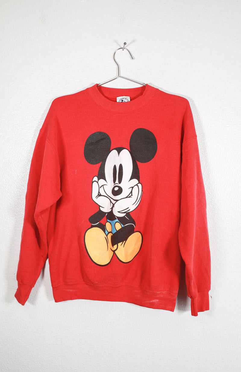 Vintage Red Mickey Mouse Sweatshirt
