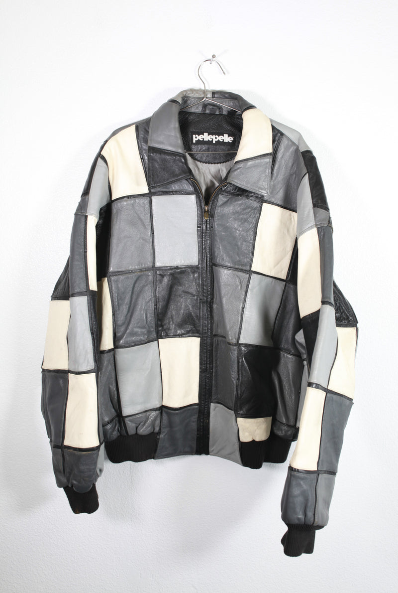 Pellepelle Multi Gray Leather Jacket