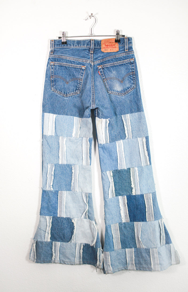 Vintage Patch Bell Bottom Jeans