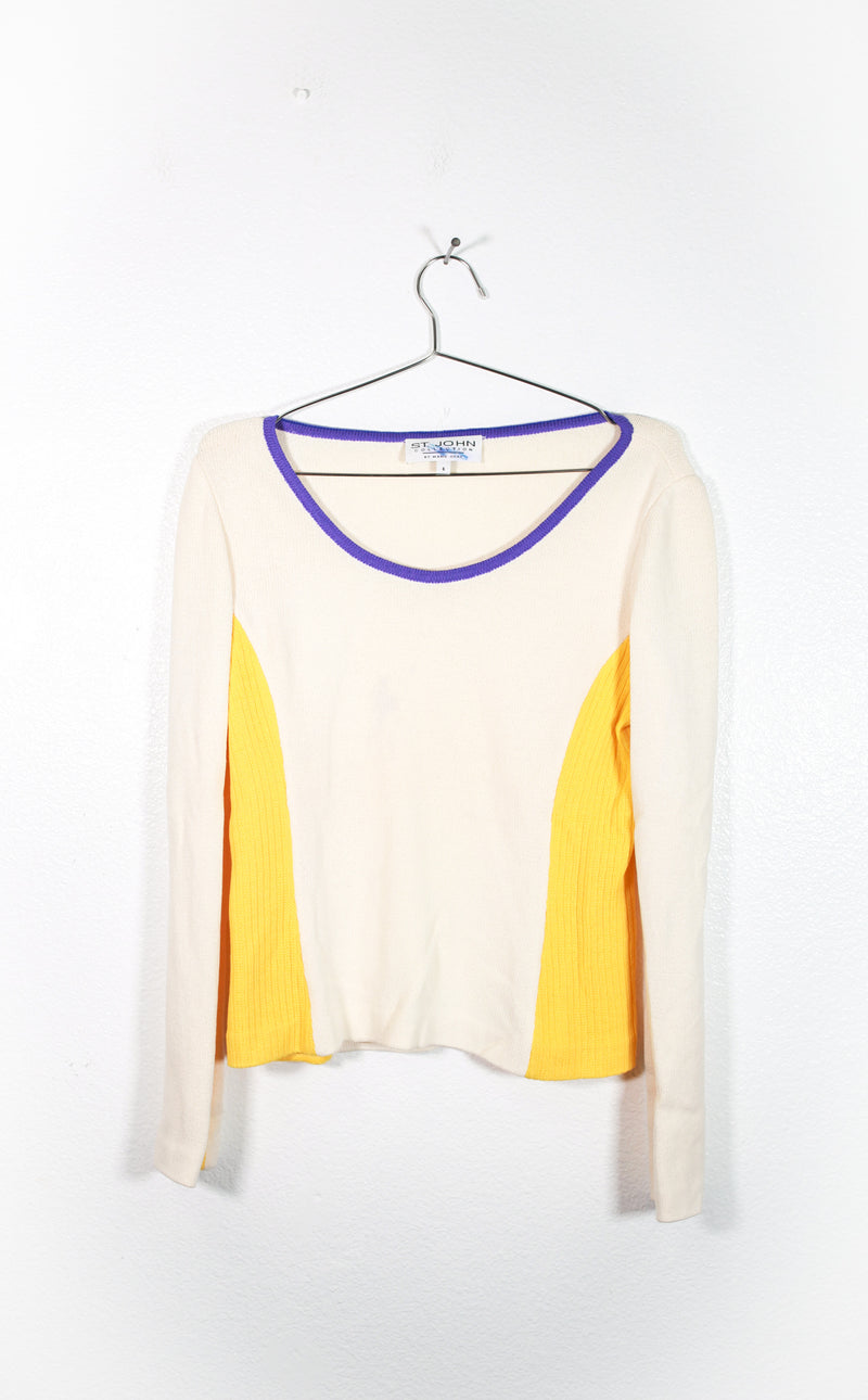 Vintage St. John Cream Top