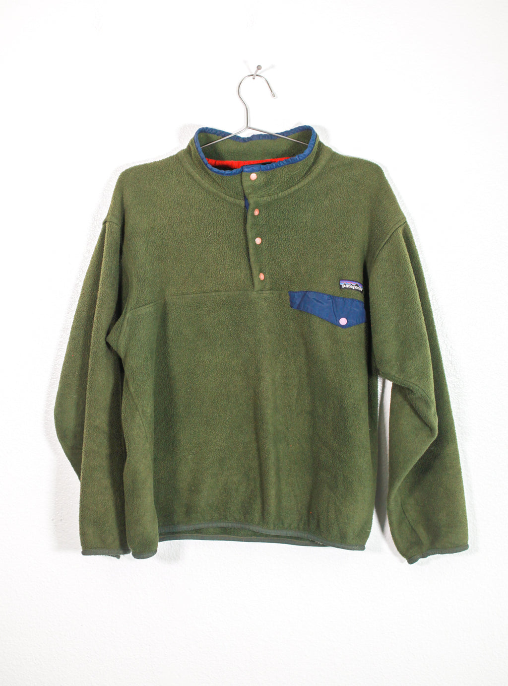 Vintage Olive Patagonia Fleece Pull Over