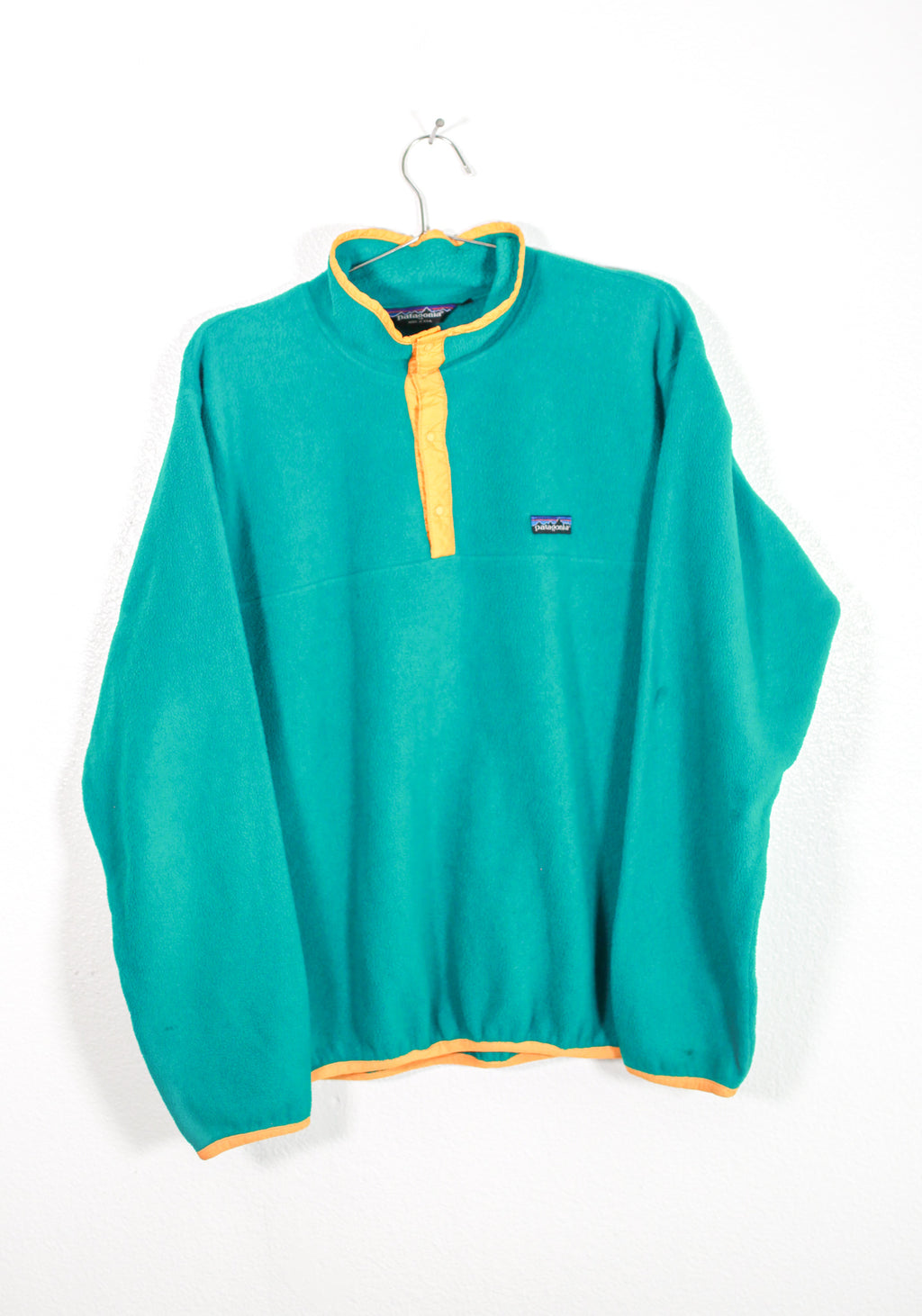 Vintage Green Patagonia Fleece Pull Over
