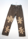 Floral Tie Dyed 501 Levi's Jeans