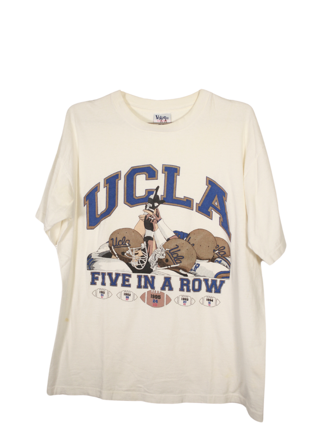 "Vintage UCLA ""5 In A Row"" Tee"