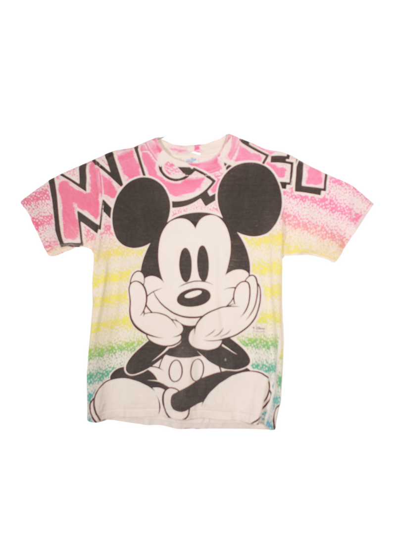 Vintage Colorful Mickey Tee