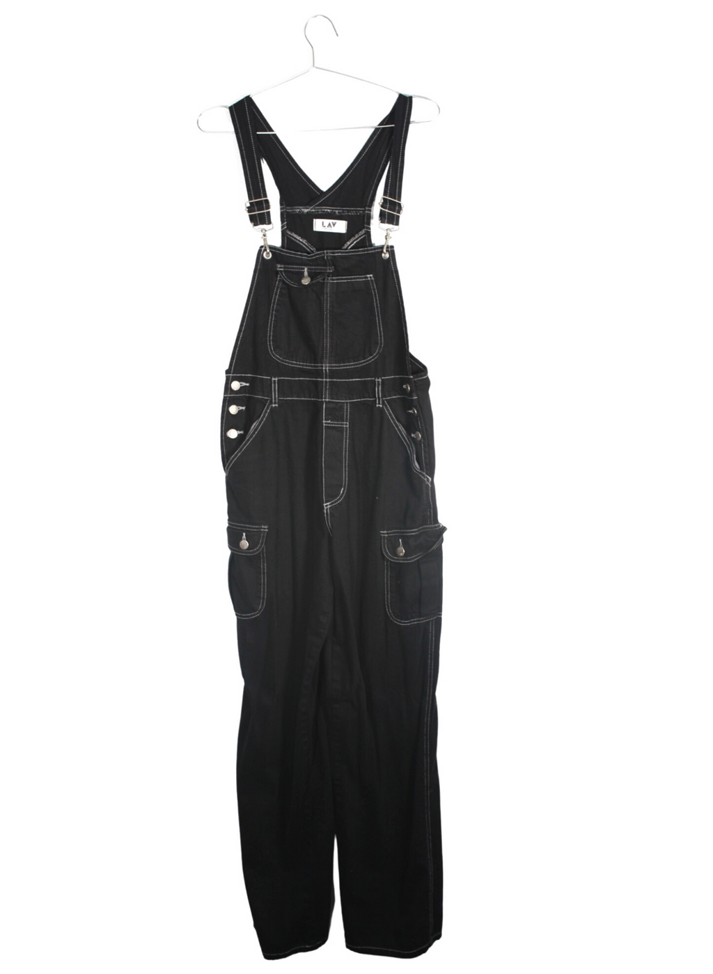 Vintage Black Denim Pant Overalls