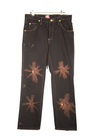 Black & Brown Wrangler Hand Painted Jeans