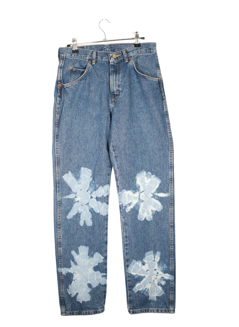 Wrangler Vintage Denim Jeans Painted In House