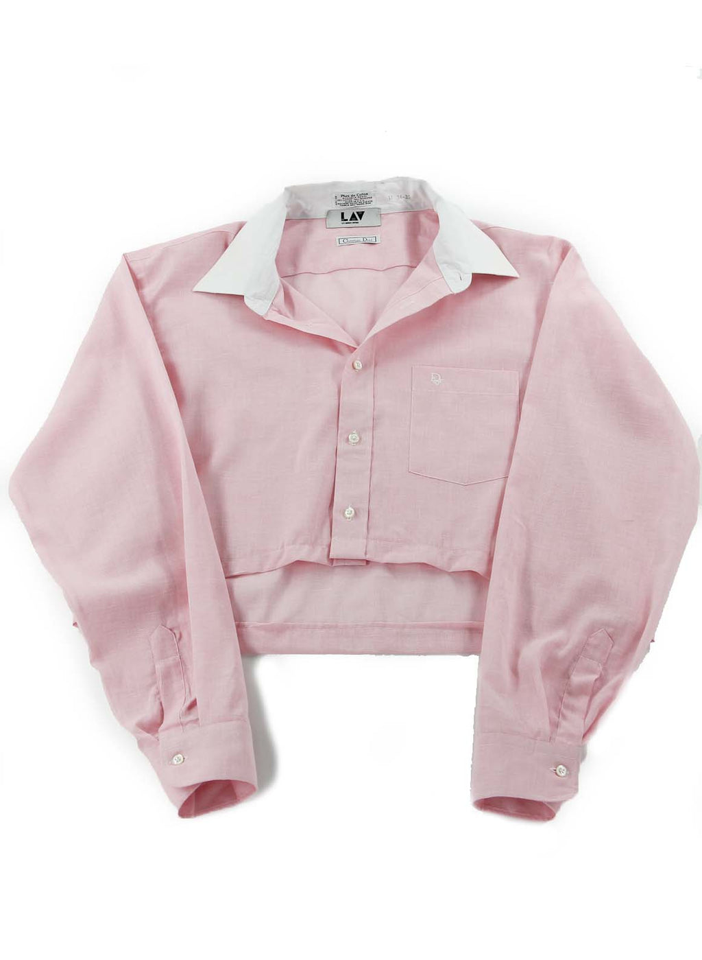 Christian Dior Baby Pink Cropped Shirt