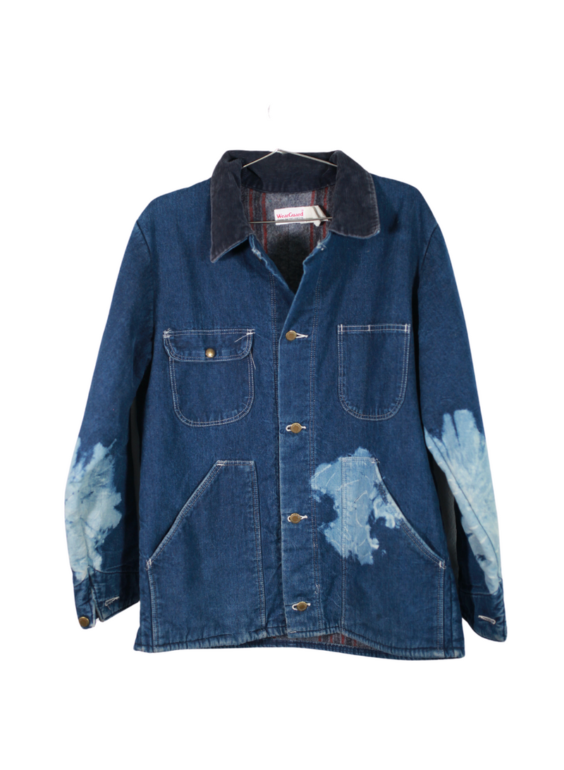 Vintage WearGuard Denim Flower Dye Jacket