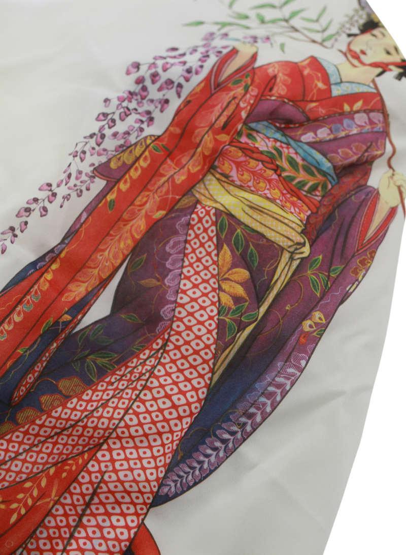 Japanese Giesha Silk Scarf Top