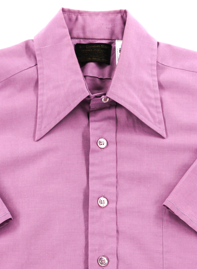 Vintage 70s Pastel Purple Cropped Shirt